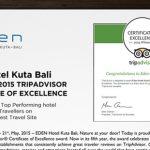 Eden Hotel Kuta Bali Menerima Penghargaan TripAdvisor Certificate of Excellence