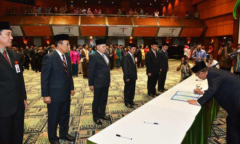 Arief Yahya Melantik Pejabat Kementerian Pariwisata