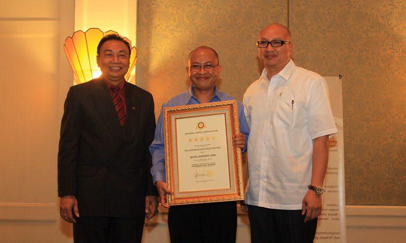 The Westin Resort Nusa Dua Bali Menerima Sertifikasi Hotel Bintang 5