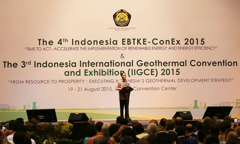 Jokowi Resmikan Pameran Dan Konvensi Panas Bumi Terbesar Di Indonesia
