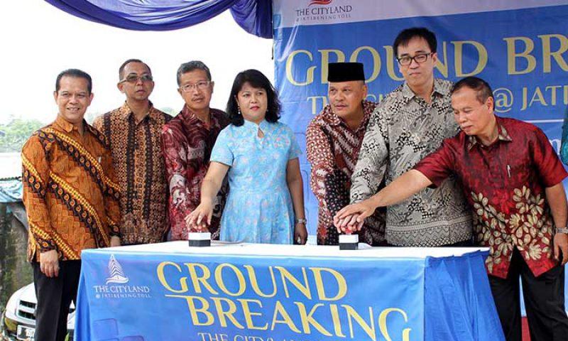Ground Breaking The Cityland Apartment & Hotel Jatibening