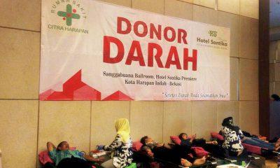 Santika Premiere Kota Harapan Indah Hadirkan Semangat Donor Darah