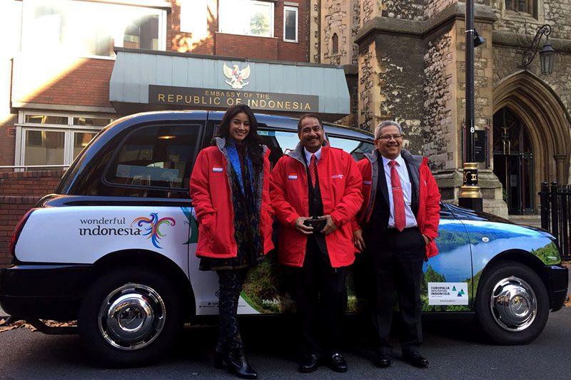 Wonderful Indonesia di taksi london