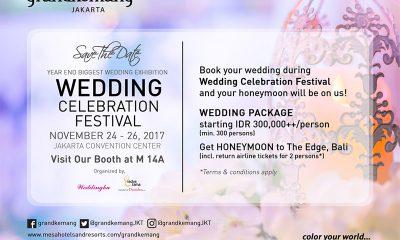 Grandkemang Jakarta Tawarkan Paket Pernikahan Menarik di WCF 2017