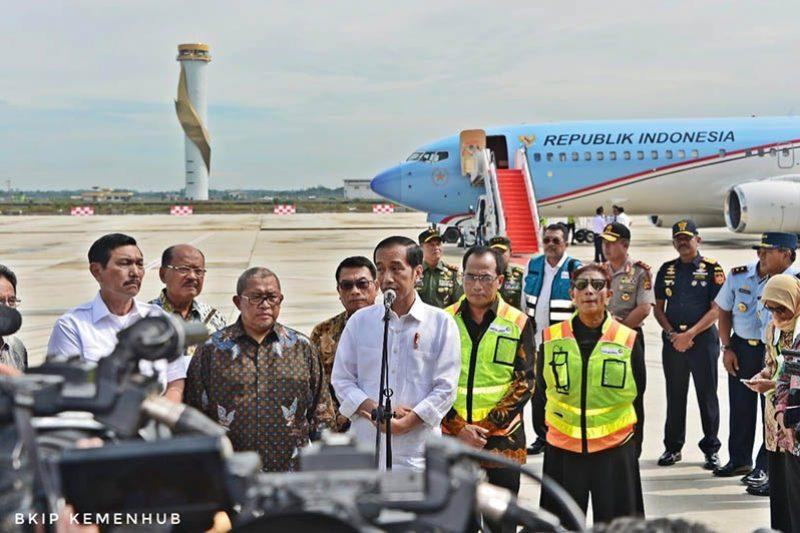 Presiden Jokowi di Bandara Kertajati