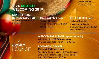 Santika Premiere Hayam Wuruk Jakarta Rayakan Tahun Baru Bertema Viva Meksiko