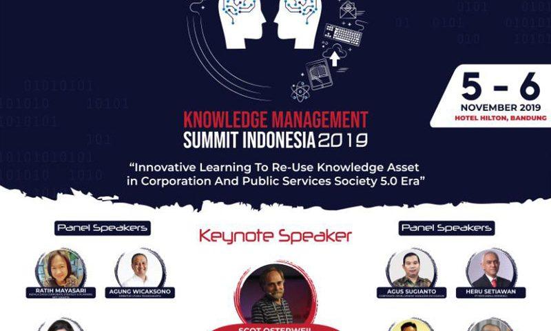 Knowledge Management Summit Datangkan Narasumber Pakar Dunia