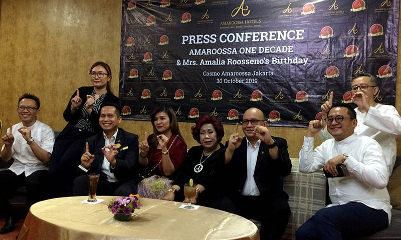 Perayaan Satu Dekade Amaroossa Hotels dengan Kegiatan CSR