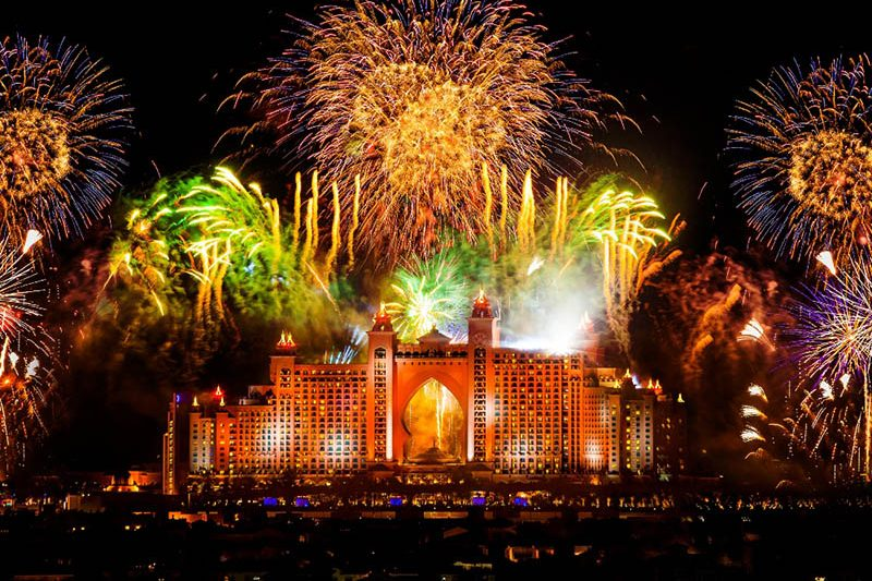 Atlantis, The Palm NYE Fireworks
