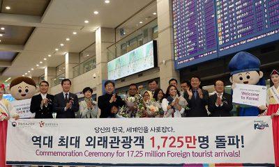 Korea Dikunjungi 17,5 Juta Wisatawan Asing