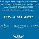 Tiga Outlet Akasa Boga Kreasindo di JHL Solitaire Hotel Tutup Sementara
