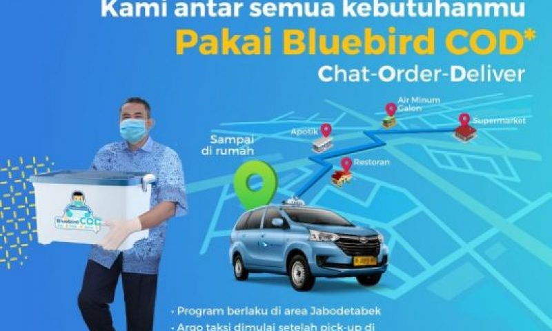 Bluebird Luncurkan Program Chat-Order-Delivery