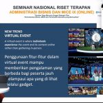 Pelaku MICE Butuh Sertifikasi Virtual Event Management