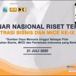 Seminar Nasional Riset Terapan Administrasi Bisnis dan MICE Hadirkan 182 Partisipan
